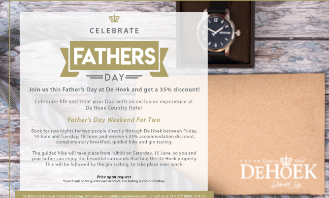 Father's Day weekend for two!