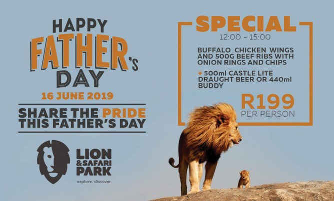 Father's Day special at the Lion Park